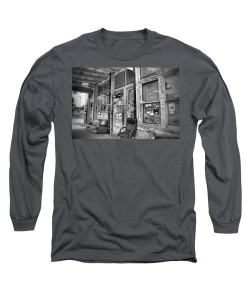 Blues Club In Black And White Long Sleeve T-Shirt