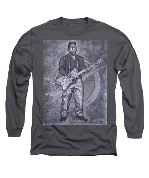 Bo Diddley - Have Guitar Will Travel Long Sleeve T-Shirt by Sean Connolly