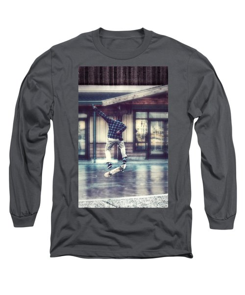 Boarder Bliss Long Sleeve T-Shirt by Melanie Lankford Photography