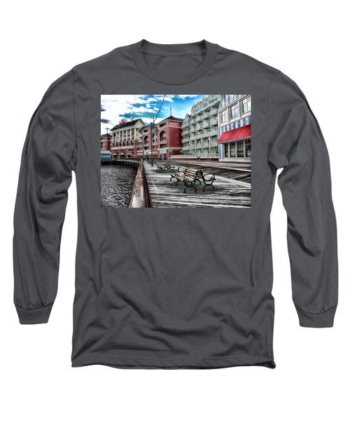 Boardwalk Early Morning Long Sleeve T-Shirt by Thomas Woolworth