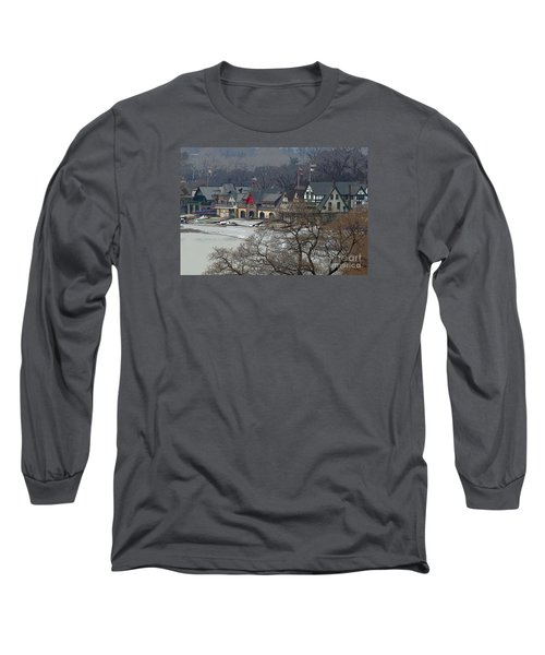 Philadelphia's Boat House Row  Long Sleeve T-Shirt by Cindy Manero