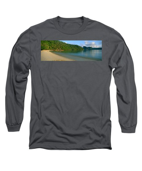 Boat In The Sea, Loh Dalam Bay, Phi Phi Long Sleeve T-Shirt