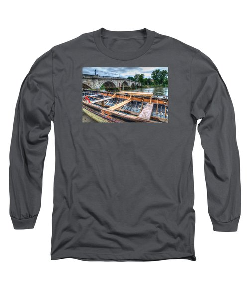 Long Sleeve T-Shirt featuring the photograph Boat Repair On The Thames by Tim Stanley