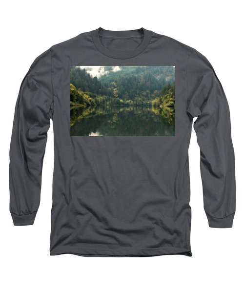 Long Sleeve T-Shirt featuring the photograph Boathouse by Katie Wing Vigil