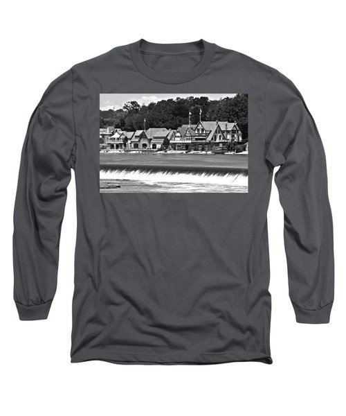 Boathouse Row - Bw Long Sleeve T-Shirt