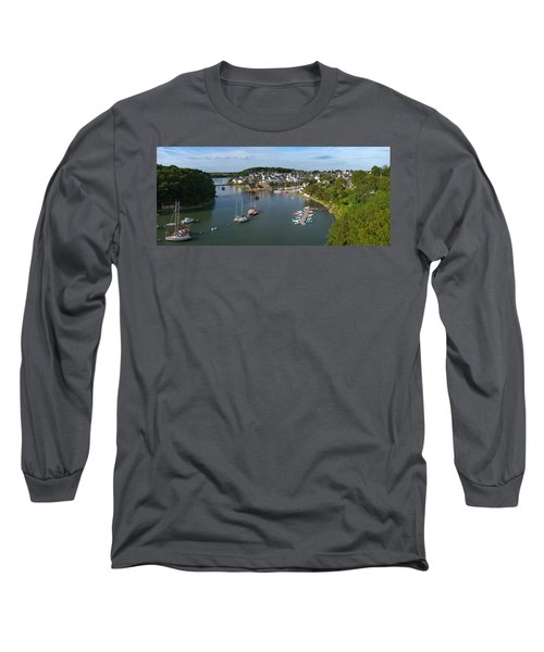 Boats In The Sea, Le Bono, Gulf Of Long Sleeve T-Shirt by Panoramic Images