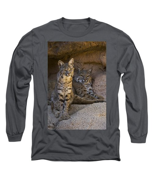 Long Sleeve T-Shirt featuring the photograph Bobcat 8 by Arterra Picture Library