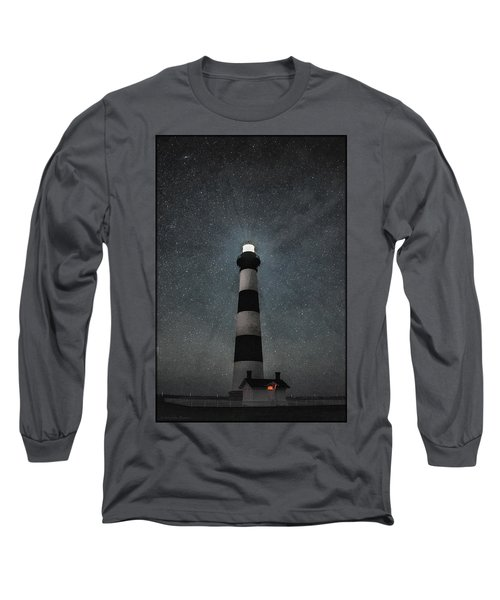 Bodie Island Light Midnight Long Sleeve T-Shirt
