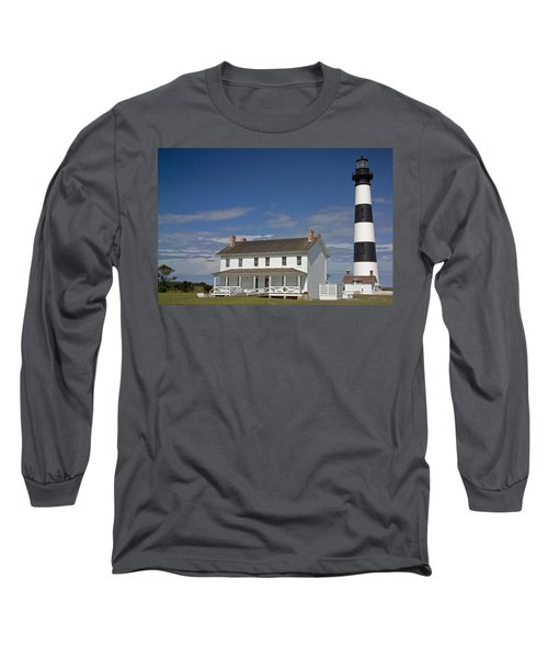 Long Sleeve T-Shirt featuring the photograph Bodie Lighthouse Obx by Greg Reed