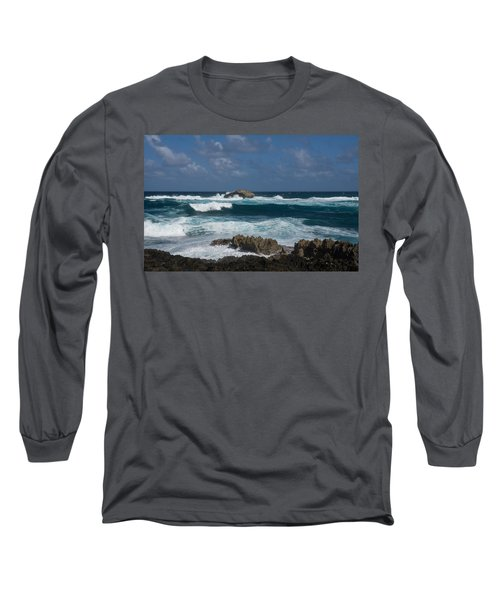 Boiling The Ocean At Laie Point - North Shore - Oahu - Hawaii Long Sleeve T-Shirt