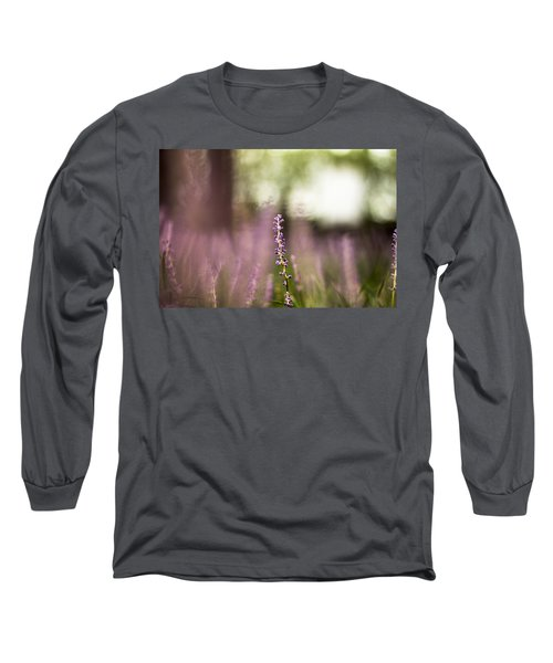 Bokeh With Purple Wildflower Long Sleeve T-Shirt