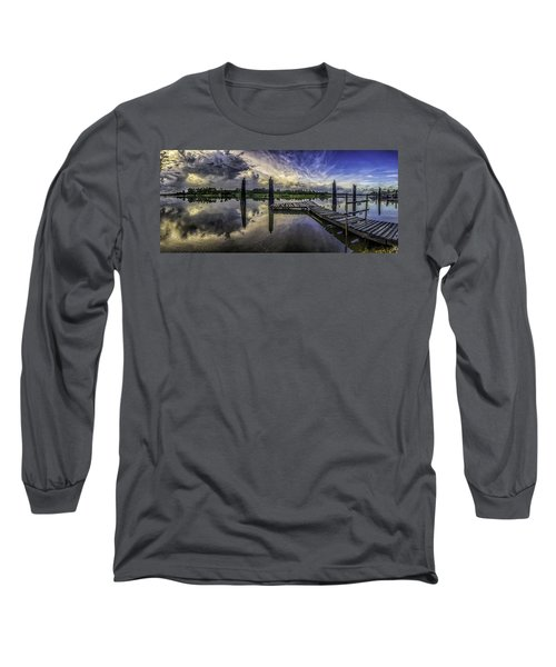 Long Sleeve T-Shirt featuring the digital art Bon Secour Panorama by Michael Thomas