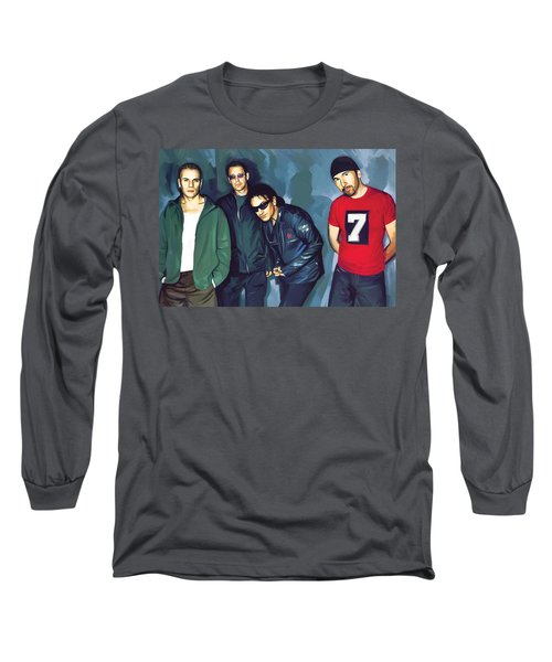Bono U2 Artwork 5 Long Sleeve T-Shirt by Sheraz A
