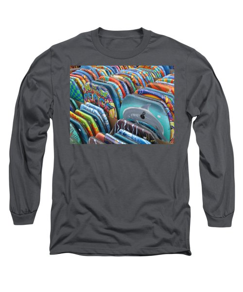 Long Sleeve T-Shirt featuring the photograph Boogie Boards by Barbara McDevitt