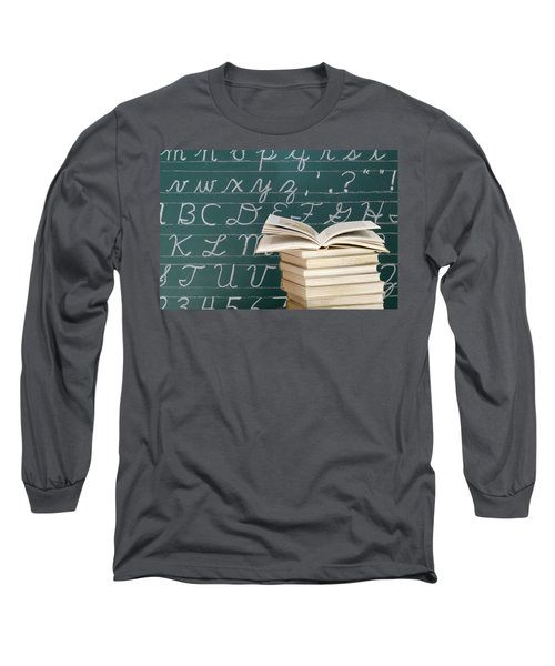 Books And Chalkboard Long Sleeve T-Shirt