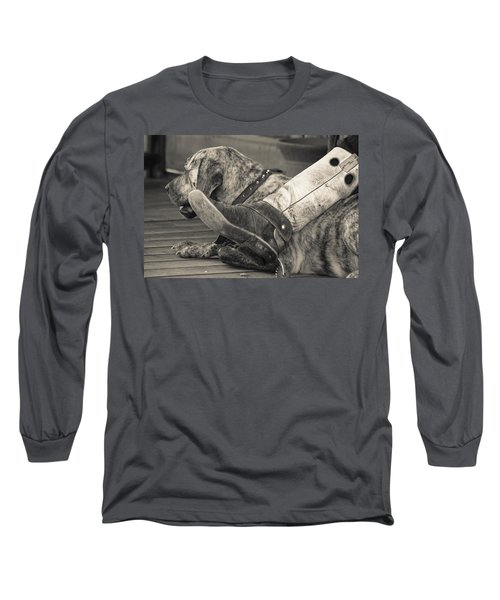 Long Sleeve T-Shirt featuring the photograph Boot Scootin by Steven Bateson