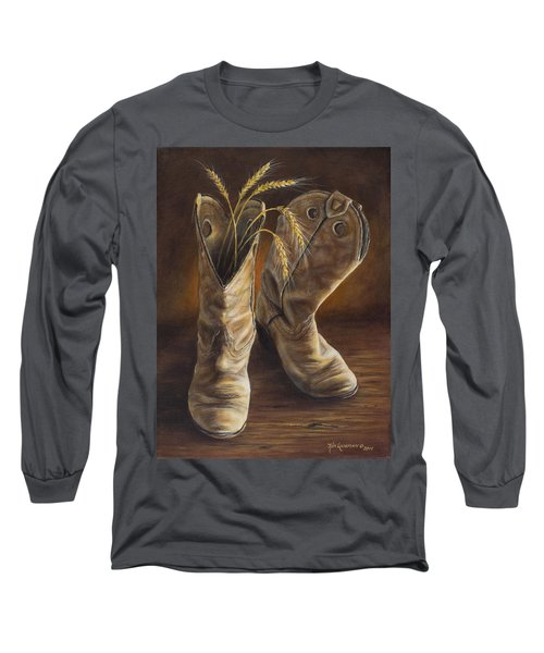 Boots And Wheat Long Sleeve T-Shirt