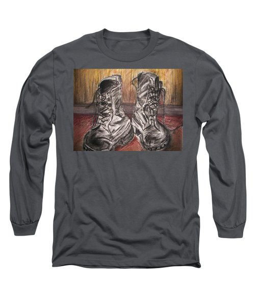 Boots In The Hall Way Long Sleeve T-Shirt