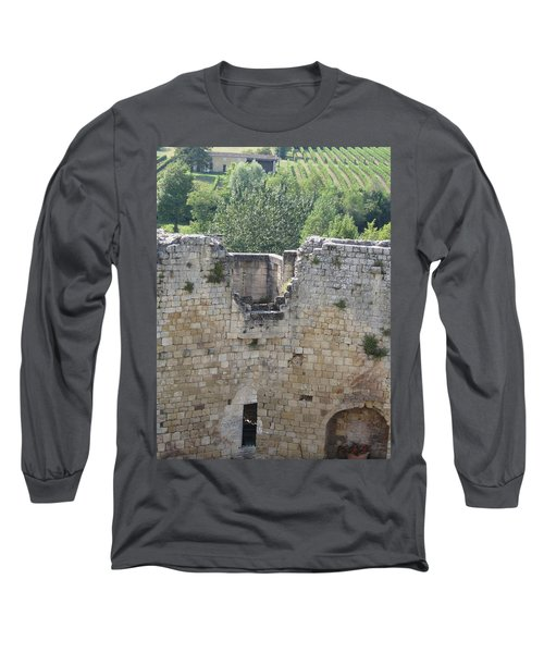 Bordeaux Castle Ruins With Vineyard Long Sleeve T-Shirt