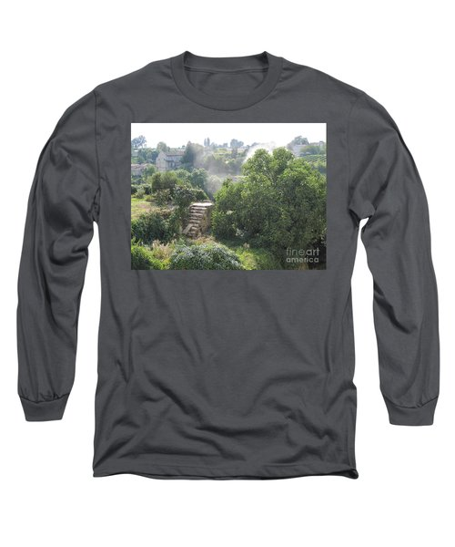Long Sleeve T-Shirt featuring the photograph Bordeaux Village Cloud Of Smoke  by HEVi FineArt