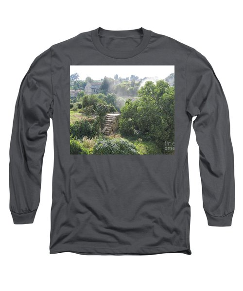 Bordeaux Village Cloud Of Smoke  Long Sleeve T-Shirt