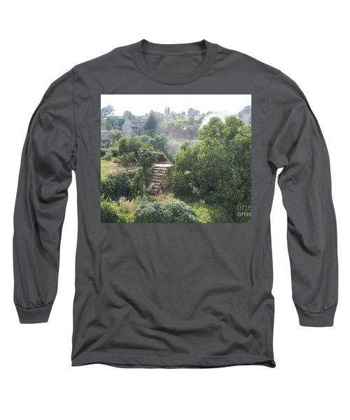 Bordeaux Village Cloud Of Smoke  Long Sleeve T-Shirt