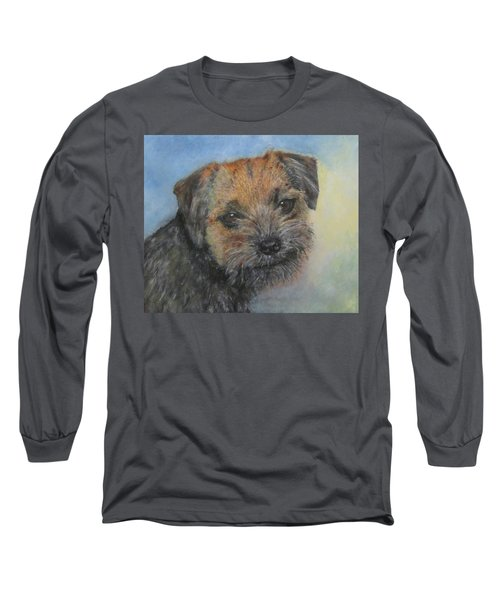 Border Terrier Jack Long Sleeve T-Shirt by Richard James Digance