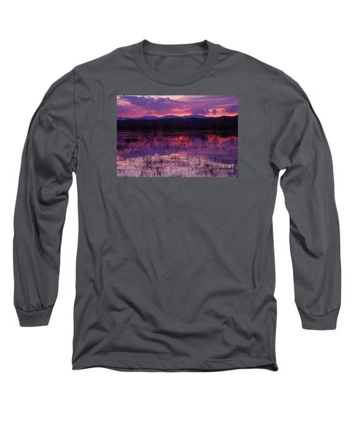 Bosque Sunset - Purple Long Sleeve T-Shirt by Steven Ralser