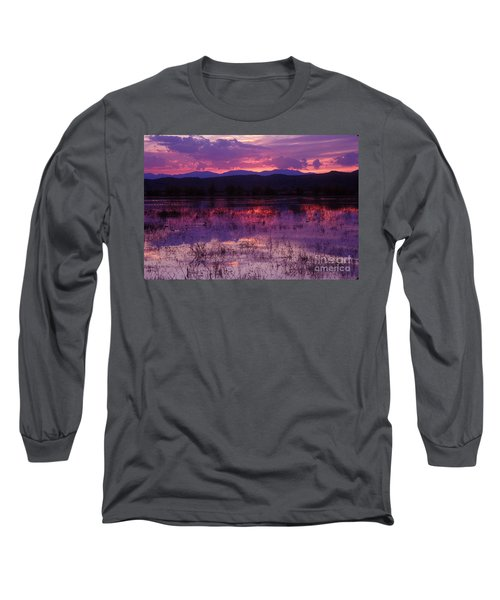 Bosque Sunset - Purple Long Sleeve T-Shirt