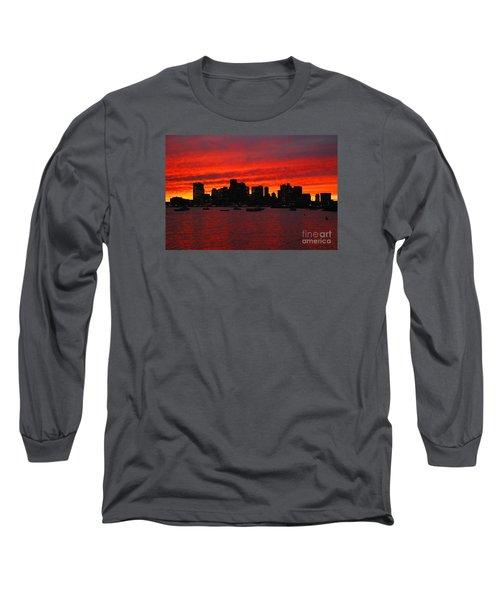 Boston City Sunset Long Sleeve T-Shirt
