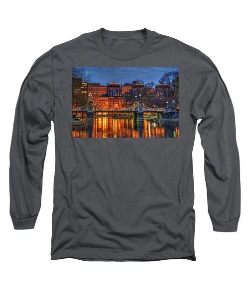 Boston Public Garden Lagoon Long Sleeve T-Shirt by Joann Vitali