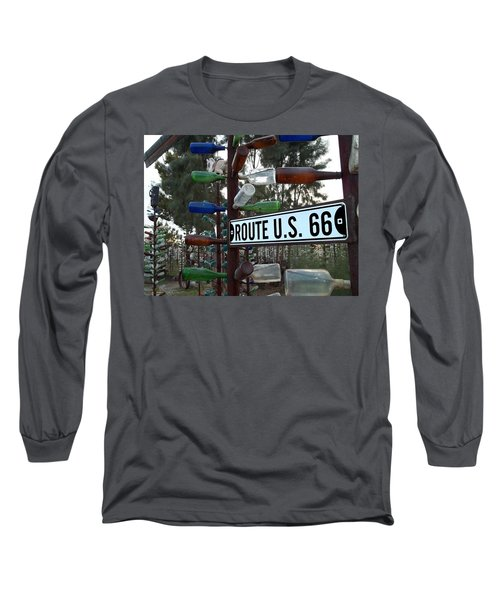 Bottle Trees Route 66 Long Sleeve T-Shirt by Glenn McCarthy Art and Photography