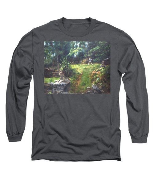 Long Sleeve T-Shirt featuring the painting Bouts Of Fantasy by Lori Brackett