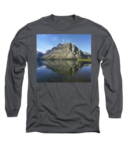 Bow Lake And Crowfoot Mts Banff Long Sleeve T-Shirt