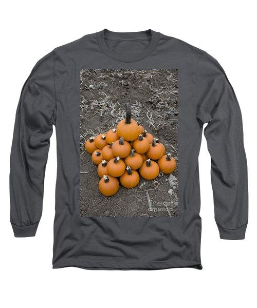 Long Sleeve T-Shirt featuring the photograph Bowling For Pumpkins by David Millenheft