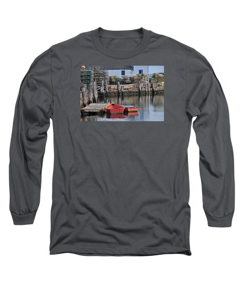 Long Sleeve T-Shirt featuring the photograph Bradley Wharf Dinghies by Mike Martin