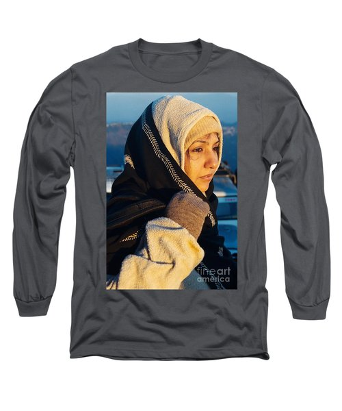 Long Sleeve T-Shirt featuring the photograph Braving The Cold by Fotosas Photography