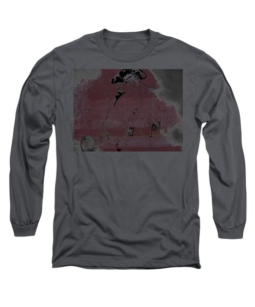 Long Sleeve T-Shirt featuring the digital art Breaking Bad Concrete Wall by Brian Reaves