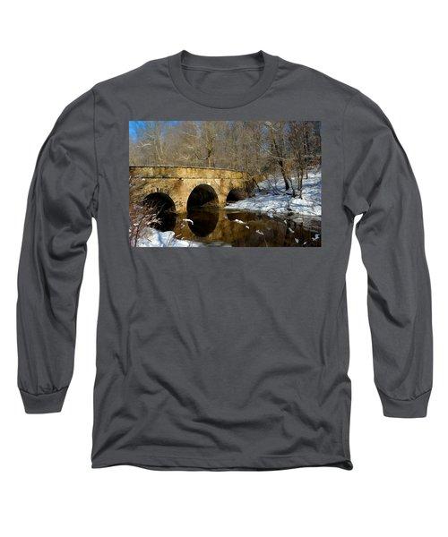 Bridge In Woods Long Sleeve T-Shirt