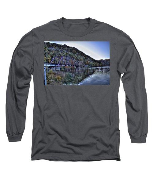 Long Sleeve T-Shirt featuring the photograph Bridge On A Lake by Jonny D