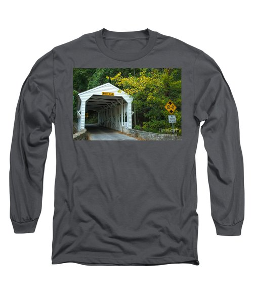 Long Sleeve T-Shirt featuring the photograph Bridge On Route 252 In Valley Forge by Rima Biswas