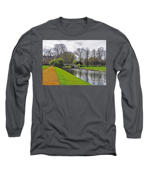Bridge Over River Cam Long Sleeve T-Shirt
