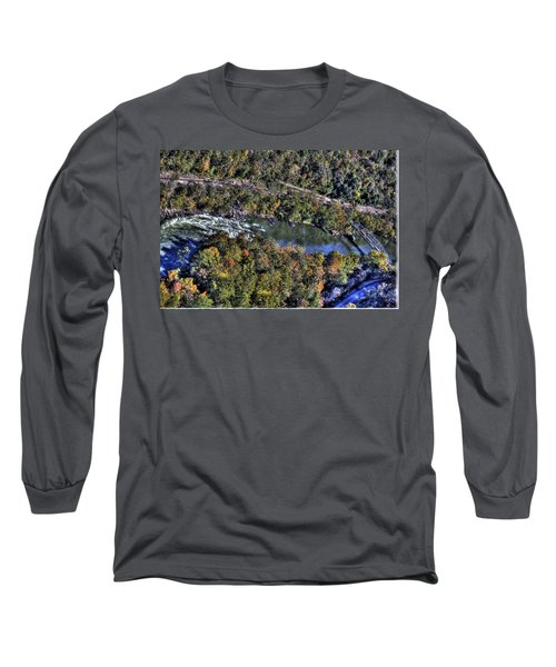 Bridge Over River Long Sleeve T-Shirt by Jonny D