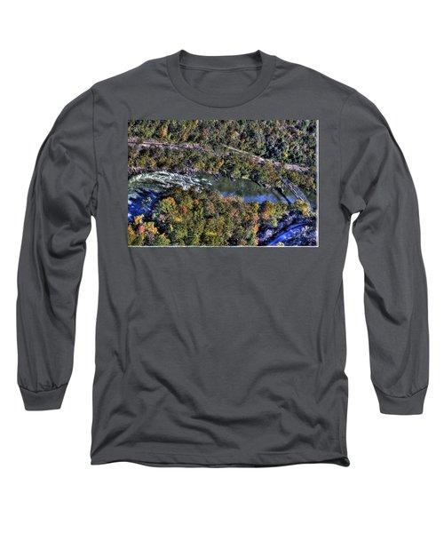 Long Sleeve T-Shirt featuring the photograph Bridge Over River by Jonny D