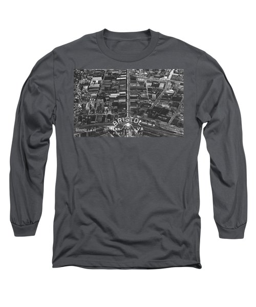 Bristol Virginia Tennessee Early Aerial Photo Long Sleeve T-Shirt