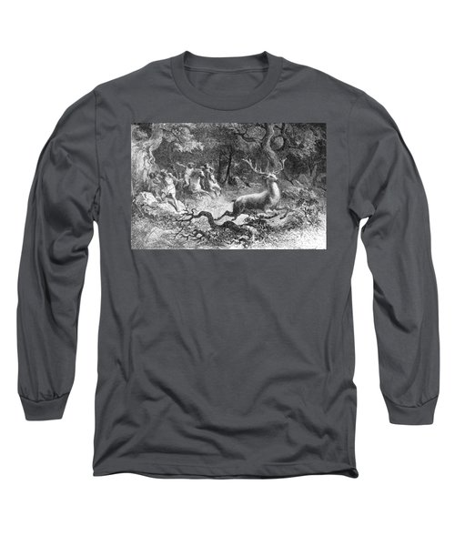 Long Sleeve T-Shirt featuring the photograph Bronze Age, Hunting Scene by British Library