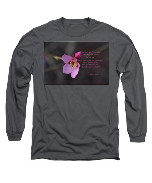 Long Sleeve T-Shirt featuring the photograph Brotherly Love by Larry Bishop
