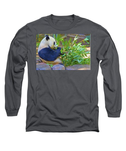 Long Sleeve T-Shirt featuring the photograph Brunch On The Patio by Gary Holmes