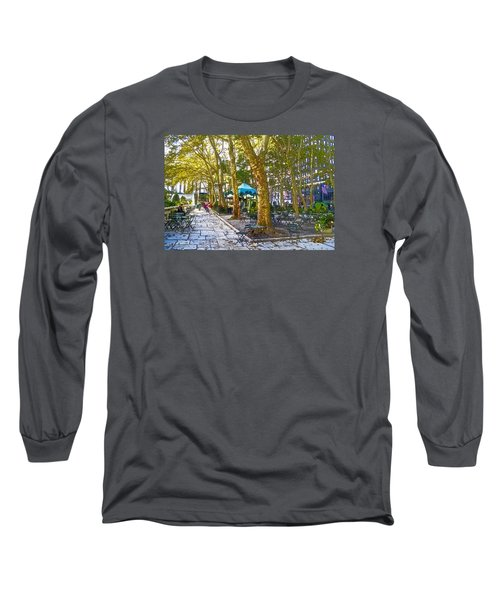 Bryant Park October Long Sleeve T-Shirt by Liz Leyden
