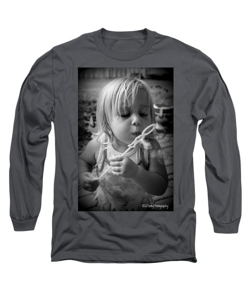 Long Sleeve T-Shirt featuring the photograph Bubble Fun by Laurie Perry
